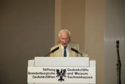 prof. dr Jan Sabrsula, były więzień KS Sachsenhausen (Czechy)  /fot.: E. Cybulski /