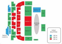 Plan sektorów Arena Szczecin