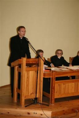 Ks. dr Arkadiusz Wieczorek - dokument o duszpasterstwie  /fot.: E. Cybulski /