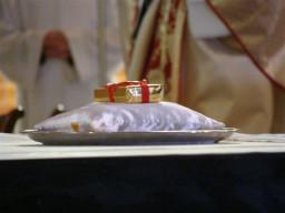 Relikwie św. Ottona z Bambergu opatrzone pieczęcia bamberskiego arcybiskupa  /fot.: Webmaster /