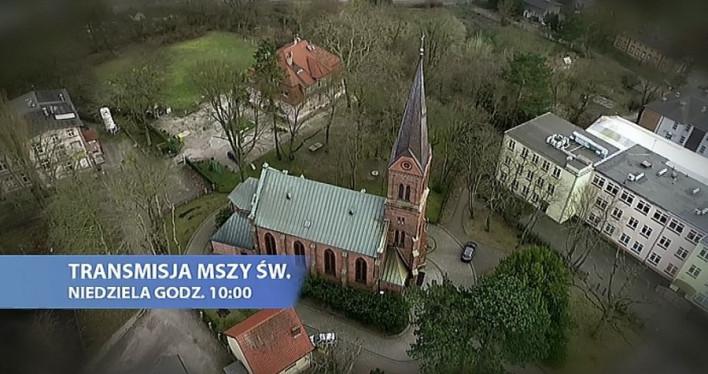 Transmisja niedzielnej Mszy świętej na antenie lokalnej TVP 3 Szczecin